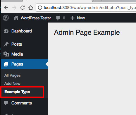 WordPress Admin Post Type Submenu